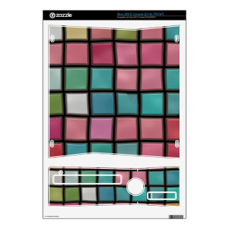 Colorful squares pattern xbox 360 s skin