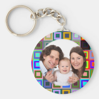 Colorful Squares/Photo Key Chains