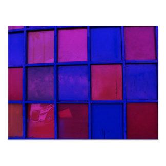 colorful squares postcard