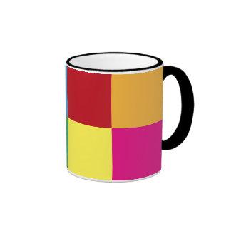 Colorful Squares Ringer Mug