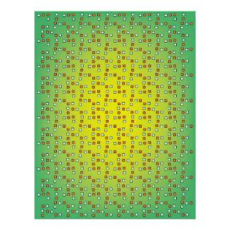 Colorful squares scrapbook paper letterhead
