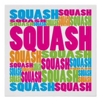 Colorful Squash Poster