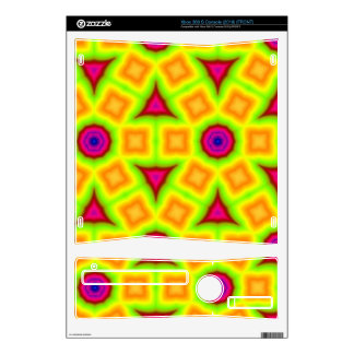 Colorful srylish pattern skins for the xbox 360 s