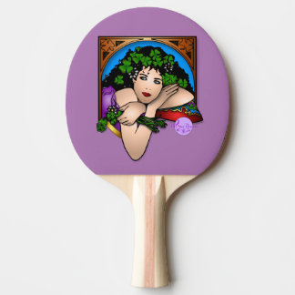 Colorful St Patricks Day Lady Ping Pong Paddle