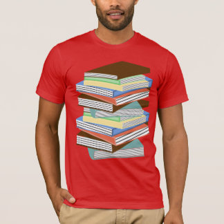 COLORFUL STACK OF BOOKS T-Shirt