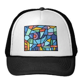 Colorful Stain Glass Effect Hat