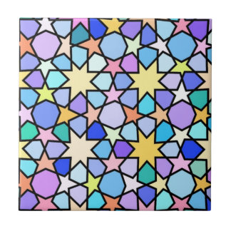 Colorful Stain glass effect Stars Pattern Ceramic Tile