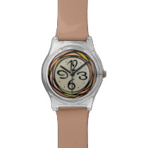 Colorful Stain Glass Pattern Watch