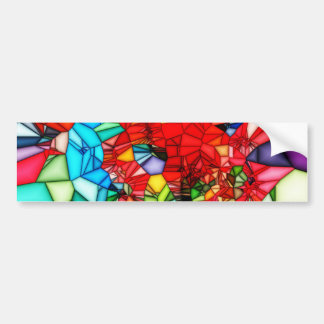 Colorful Stained glass abstract background Bumper Sticker