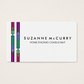Colorful Stained Glass Design Business Card