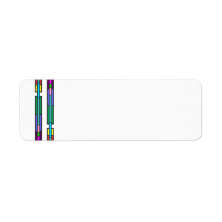 Colorful Stained Glass Design Label