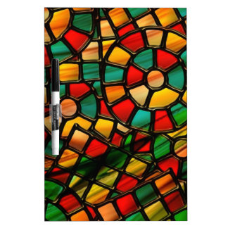 colorful stained glass Dry-Erase whiteboard
