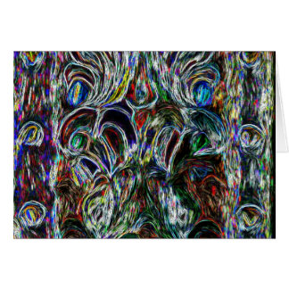 Colorful Stained Glass  Effect Pop Art Design Card