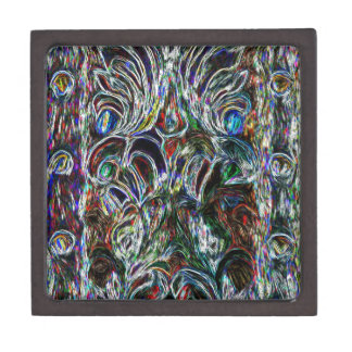 Colorful Stained Glass  Effect Pop Art Design Jewelry Box