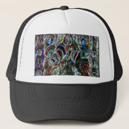 Colorful Stained Glass  Effect Pop Art Design Trucker Hat