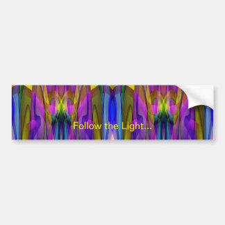 Colorful Stained Glass-like Abstract Design Bumper Sticker