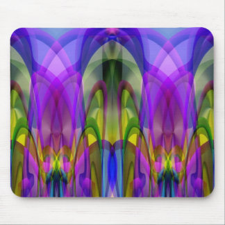 Colorful Stained Glass-like Abstract Design Mouse Pad