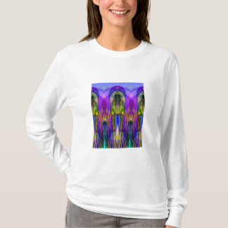Colorful Stained Glass-like Abstract Design T-Shirt