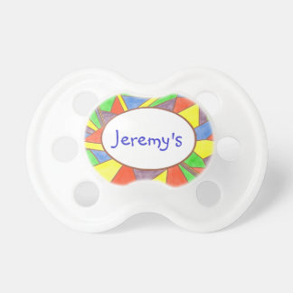 Colorful Stained Glass Look Baby Pacifiers