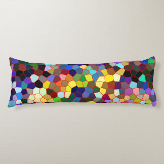 Colorful Stained Glass Look Body Pillow