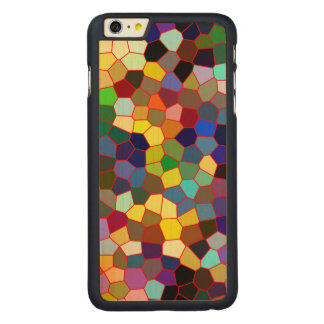 Colorful Stained Glass Look Carved Maple iPhone 6 Plus Slim Case