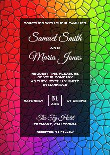 Stained Glass Wedding Invitations Zazzle