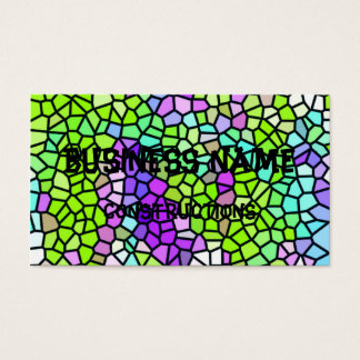 Colorful stained glass pattern business card