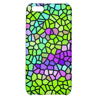 Colorful stained glass pattern cover for iPhone 5C
