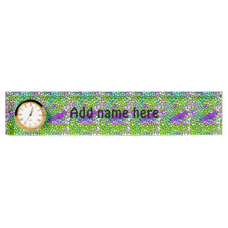Colorful stained glass pattern name plate