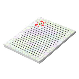 Colorful stained glass pattern notepad