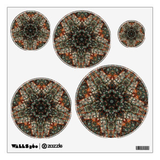 Colorful Stained Glass Window Kaleidoscope Wall Decals