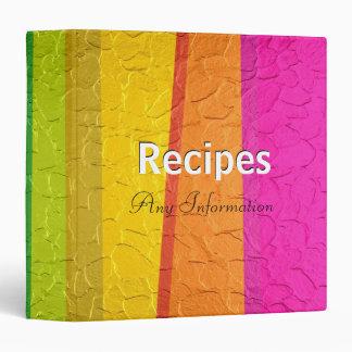 Colorful stainless steel metal | Recipes binders