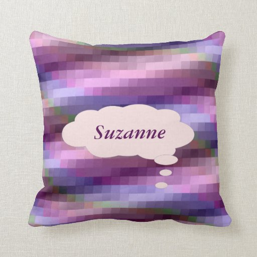 Colorful Stairs Personalized Throw Pillow Zazzle