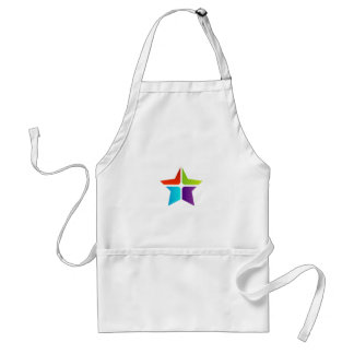 Colorful Star Adult Apron