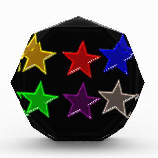 Colorful star buttons acrylic award