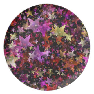 Colorful Star Cluster Party Plates