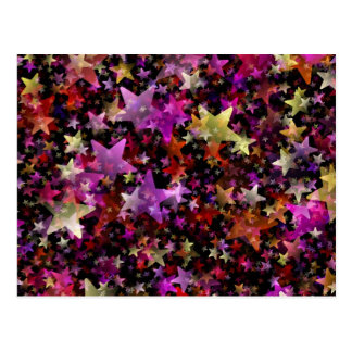 Colorful Star Cluster Postcard