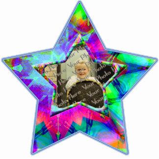 Colorful Star  Custom Photo Star Ornament Acrylic Cut Outs