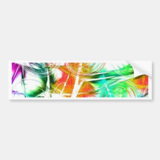 Colorful Star Design Car Bumper Sticker