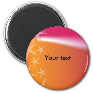 Colorful star design magnet