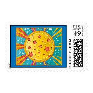 Colorful Star Design Postage