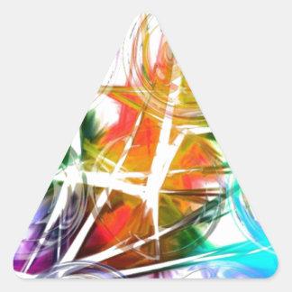 Colorful Star Design Triangle Sticker