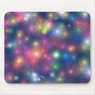Colorful star lights mouse pad