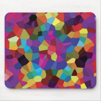 Colorful Star Mosaic Mouse Pad