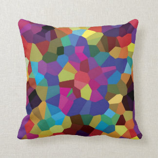 Colorful Star Mosaic Throw Pillow