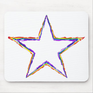 Colorful Star Mouse Pad