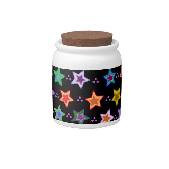 Colorful star pattern candy dish