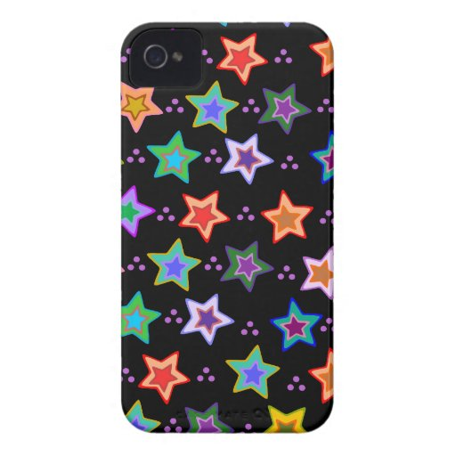 Colorful star pattern iPhone 4 case