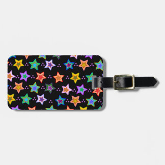 Colorful star pattern luggage tag