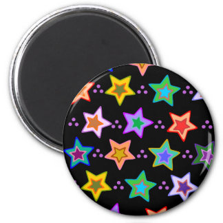 Colorful star pattern magnet